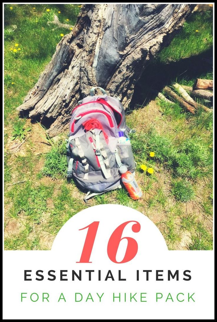 "Your essential day hiking gear list! Including safety items, ""just in case"" survival tools, and a list of what you need on the trail, from backpacking to beginners. These are the go-to hiking gear items I pack in my women's backpack for the a day on the t"