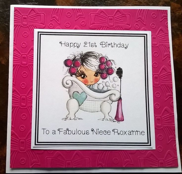 125 best Handmade Personalised Cards images – Sister 21st Birthday Card