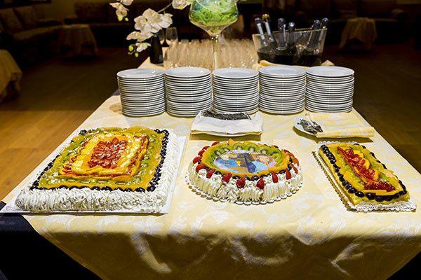Torte nuziali semplici alla frutta