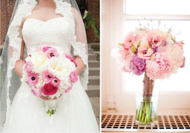 Goed voor zomer én winter: het bruidsboeket in pastelkleur!