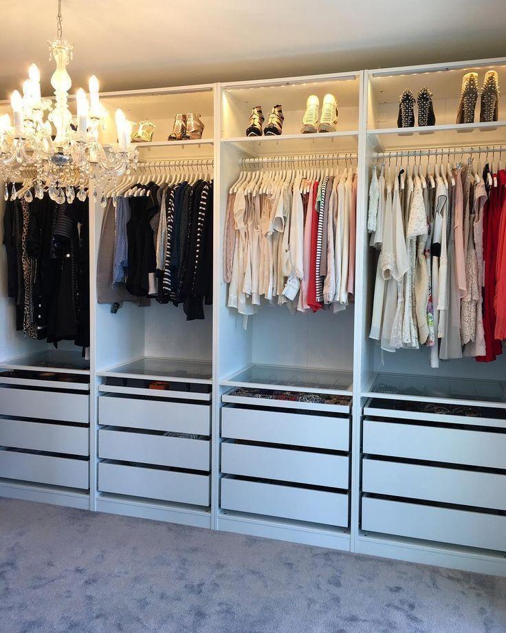 Pin On Ankleidezimmer Klein In 2020 Wardrobe Room Closet Decor Closet Layout