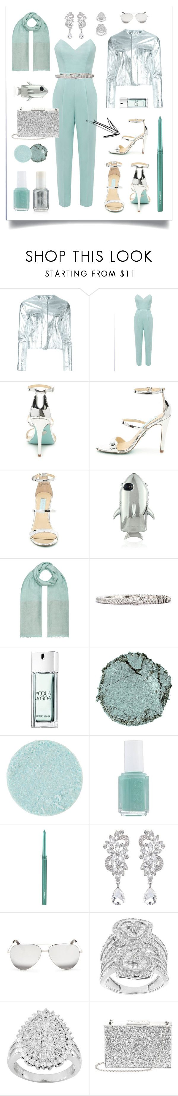 N° 72 | Featured Piece: SILVER HIGHHEELS by #yellowyippie on Polyvore featuring Mode, Marques'Almeida, STELLA McCARTNEY, Monsoon, Roberto Cavalli, Giorgio Armani, Chantecaille, Surratt, Essie und MAC Cosmetics #yellowyippie  #ootd  #getthelook  #polyvore  #fashion #featuredpiece #chic #mint #aqua #silver #partydress #datenight  #blinddate