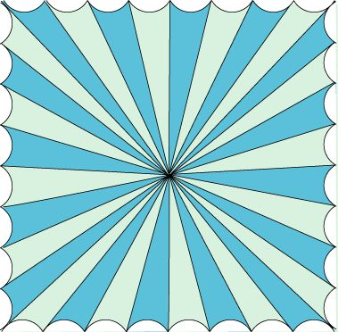 How to paint a Circus Tent ceiling...