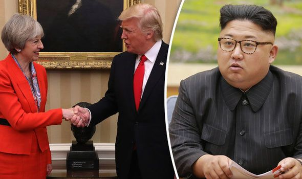 UK and US 'would stand together to face down North Korea and Russia threat'