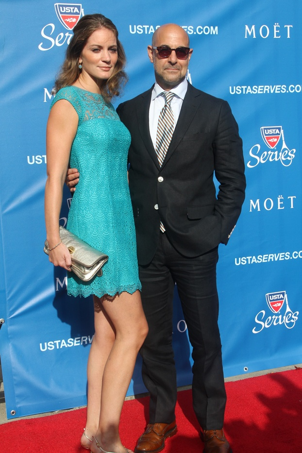 Stanley Tucci coming to enjoy some tennis on USTA Serves Night at the 2012 US Open. - Billie Weiss/USTA