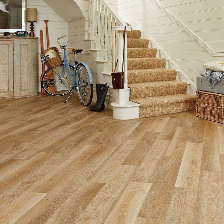 KP94 Pale Limed Oak Hallway Flooring Knight Tile Vinyl