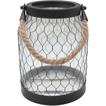 Better Homes and Gardens LG Rope Handle Lantern