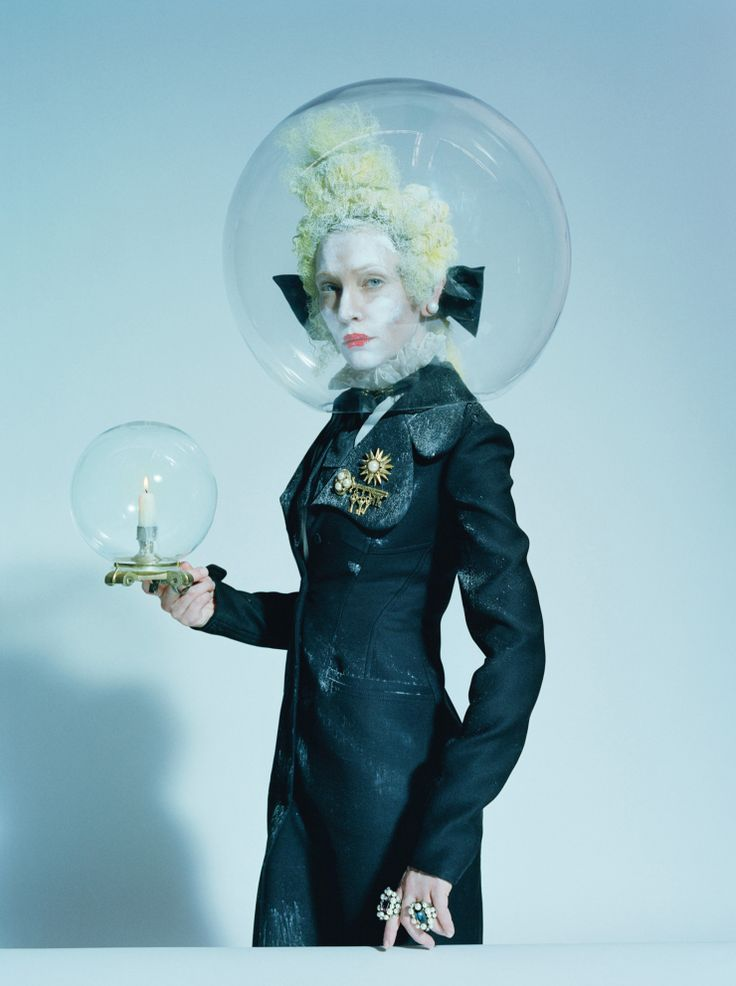 Publication: W Magazine December 2015. Model: Cate Blanchett. Photographer: Tim Walker. Fashion Editor: Jacob K. Hair: Julien D'ys. Make-up: Val Garland.
