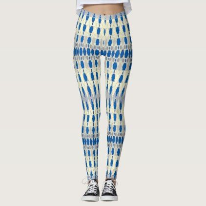 SAPPHIRE & CREAM LEGGINGS - diy cyo customize create your own personalize