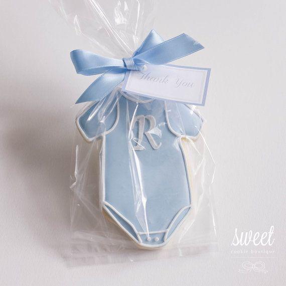 Baby Boy Onesie Cookie Favors // One Dozen by sweetcookieboutique, $36.00