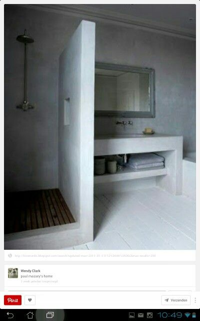 Badkamer idee moodboard nova zembla pinterest design layout and showers - Idee mozaieken badkamer ...
