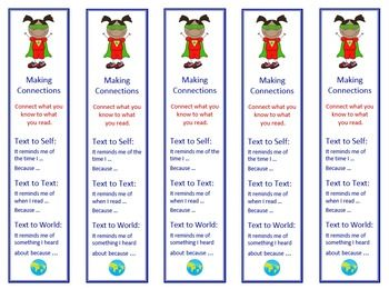 This poster and bookmark set has thirteen reading comprehension strategies: • Predicting • Questioning • Making Connections • Retelling • Inferring • Compare Contrast • Visualizing • Evaluating • Monitoring and Clarifying • Author's Purpose • Determining Importance • Decoding • Synthesizing • I made a bookmark for each strategy that has identical information from the poster. $ #ReadingStrategies