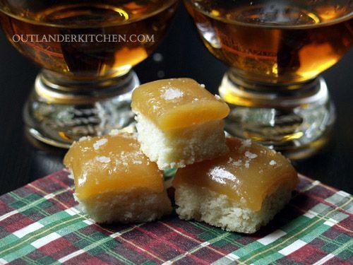 Salted butterscotch shortbread from DOA Outlander Kitchen #Outlander Starz