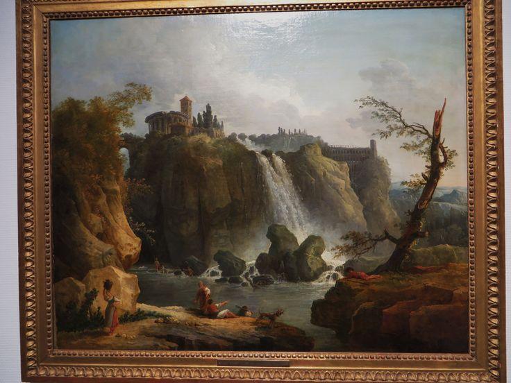 """""""Les Cascatelles de Tivoli"""", Hubert Robert (1733-1808), Musée des Beaux-Arts, Pau, Pyrénées-Atlantiques, Aquitaine, France."""