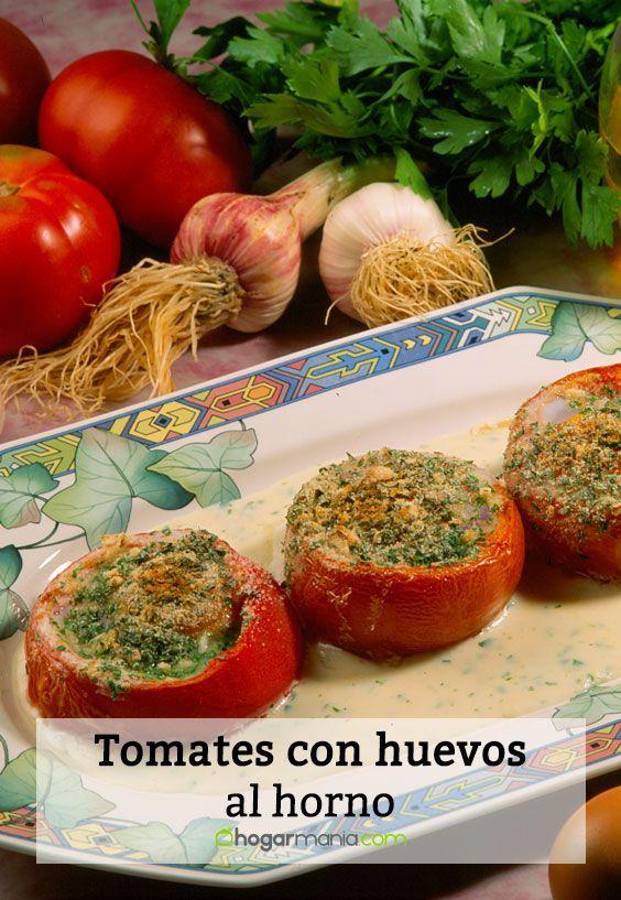 Receta De Tomates Rellenos De Huevo Al Horno Karlos Arguiñano Tomates Rellenos Tomate Relleno Al Horno Huevos Al Horno