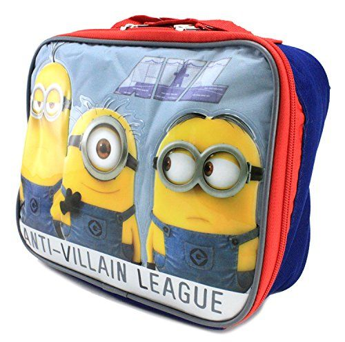 UPD Kids Childrens Boys Girls Lunch Bags Boxes Pales Anti-Villain @ niftywarehouse.com #NiftyWarehouse #DespicableMe #Movie #Minions #Movies #Minion #Animated #Kids