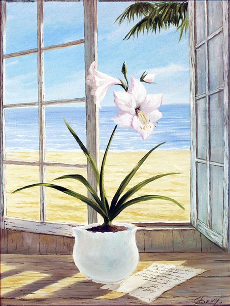 """Картина на холсте """"Белые лилии"""", купить картину маслом в картинной галереи """"Сайт подарков"""""""