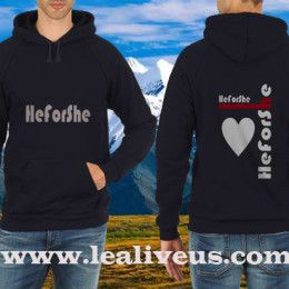 He For She American-Apparel-UNISEX-CLASSIC-PULLOVER-HOODIE FB