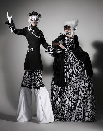 Venetian Masquerade Stilt Walkers