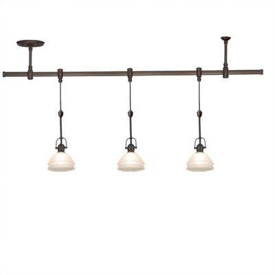 Sea Gull Lighting Gray Trenton 3 Light Track Lighting Pendant Kit | Wayfair