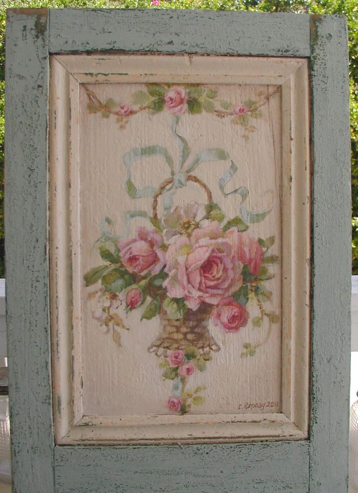 """This is my last week to work on painting projects before our show """"The Vintage Marketplace"""". This is an old french shutter I got at..."""