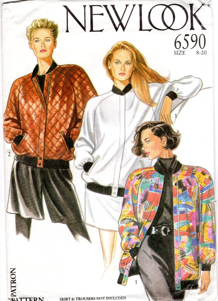 OOP Bomber Jacket Sewing Pattern - New Look 6590 - UNCUT FF by ErikawithaK on Etsy