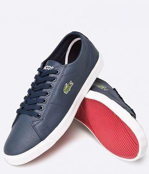 Pantofi Casual Lacoste Barbati Piele Blue   Cea mai buna oferta