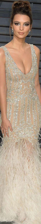Emily Ratajkowski 2017 Vanity Fair Oscar Party