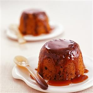 Microwaved sticky toffee pudding