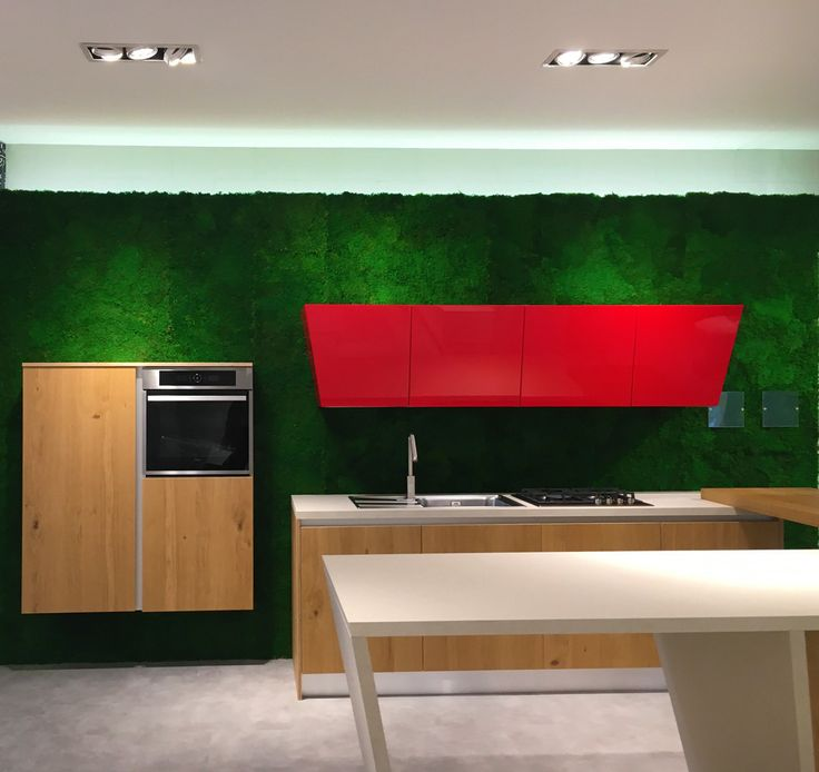 What about a stabilized #greenwall for your #kitchen? #greenwalls by #linfadecor are fully customizable with 50 essences. #design #interiors #interiordesign #greendesign #flowerdesign #furniture #architecture #arredamento #cucina #green #home #greenhome