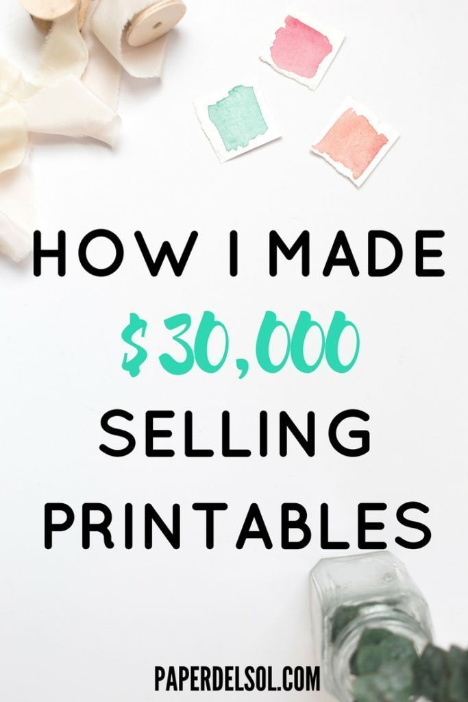 How To Make Money Selling Printables