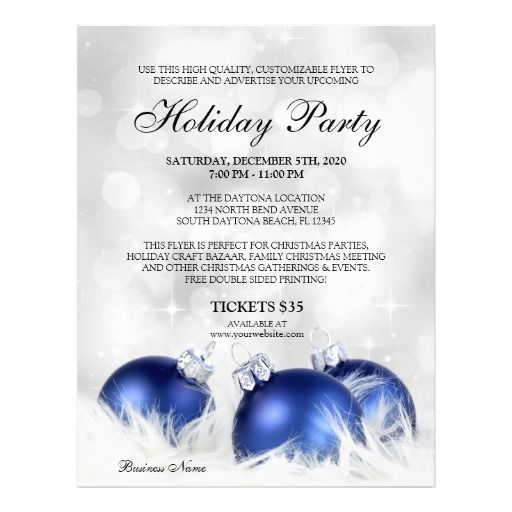Holiday Party Flyer Templates Free Idealstalist