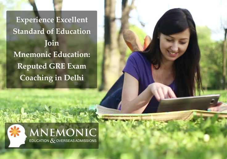 Mnemonic Education has seven years of experience in overseas education guidance, coaching and counseling. It offers GRE Classes NCR Delhi in personalised batches meeting the requirement of individual student. Register now at Mnemonic.