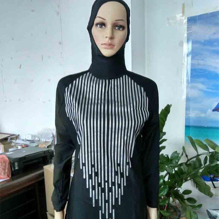 Islamic Swimwear Women Modest Full Cover Muslim Islamic Hijab Swimsuit Swimwear for Muslim Girls Women