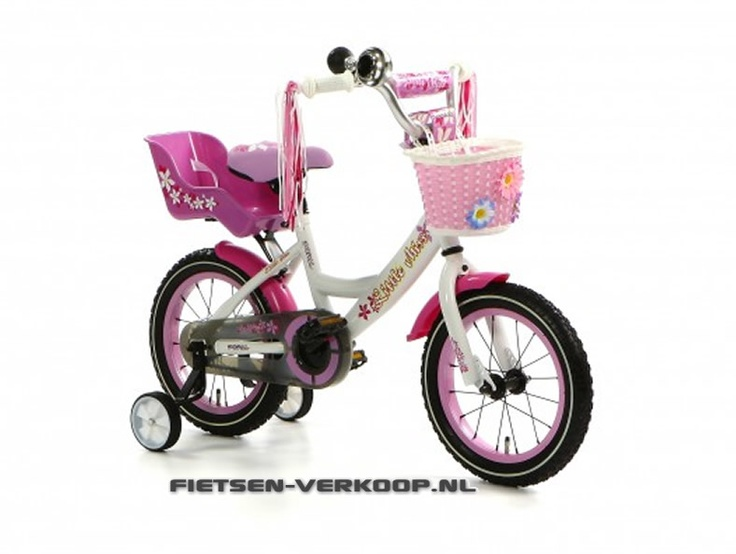 Meisjesfiets Little Miss Wit 14 Inch | bestel gemakkelijk online op Fietsen-verkoop.nl