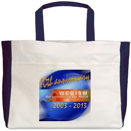 Webism Anniversary (2003 - 2013) Beach Tote on CafePress.com