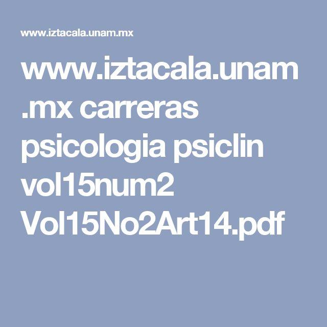 www.iztacala.unam.mx carreras psicologia psiclin vol15num2 Vol15No2Art14.pdf