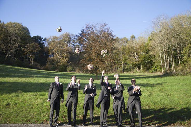 Groomsmen throwing flowers! #groomsmen #kent #wedding #weddingphotographer