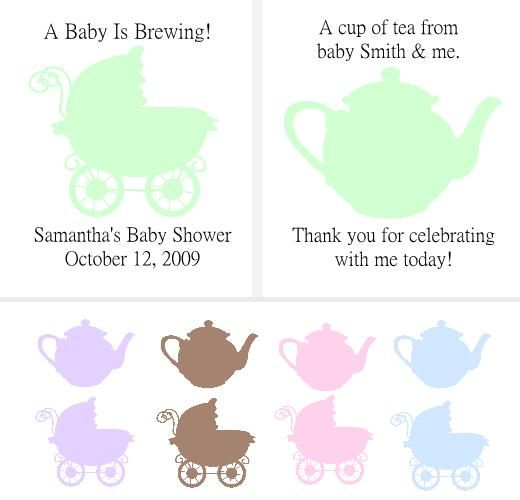 make your own baby shower favors create your own baby shower tea bag