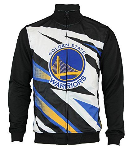 8dd378414 NBA Men s Golden State Warriors Motorcross Full Zip Track Jacket