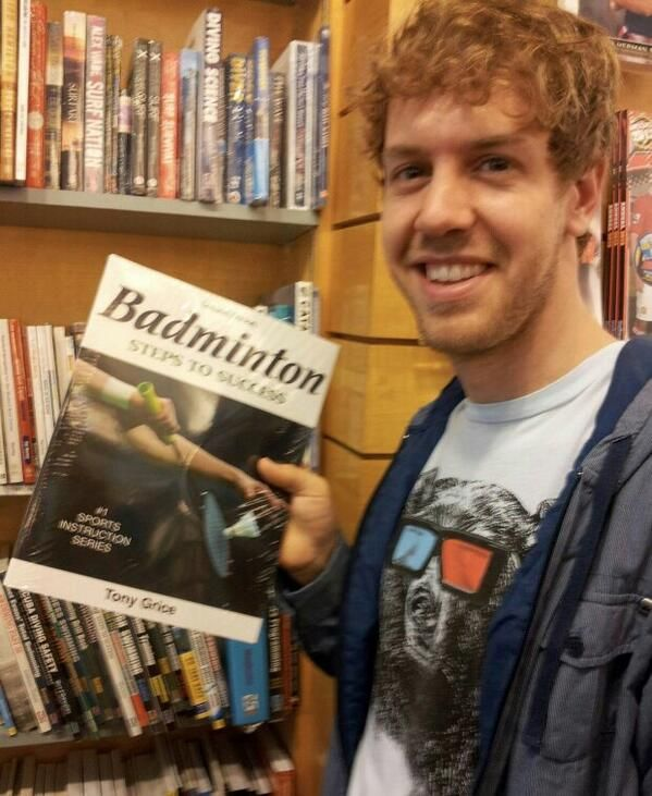Sebastian Vettel has found a way to beat Kimi Raikkonen in badminton...;)
