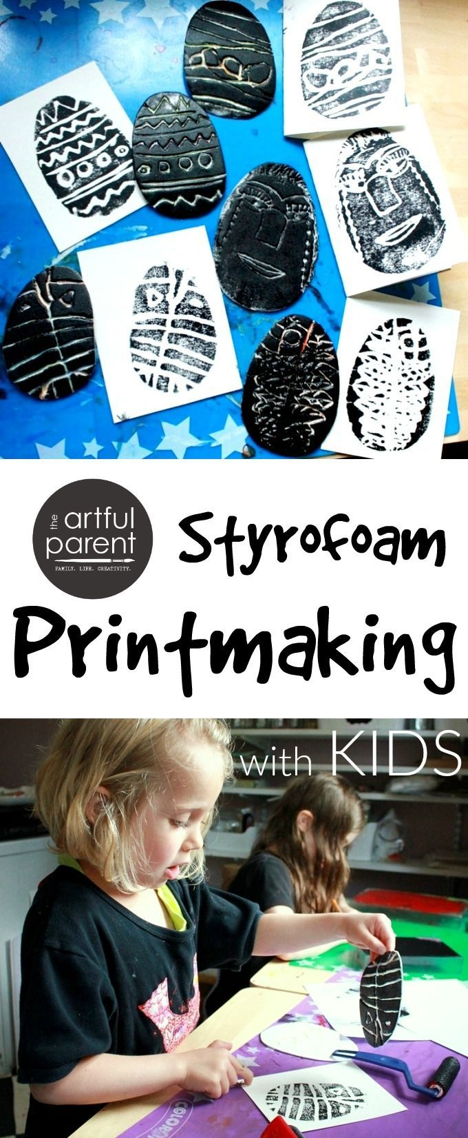 Styrofoam printmaking is a remarkably easy and rewarding printing technique to do with kids for everyday art or for holiday cards. This step-by-step tutorial shows how.