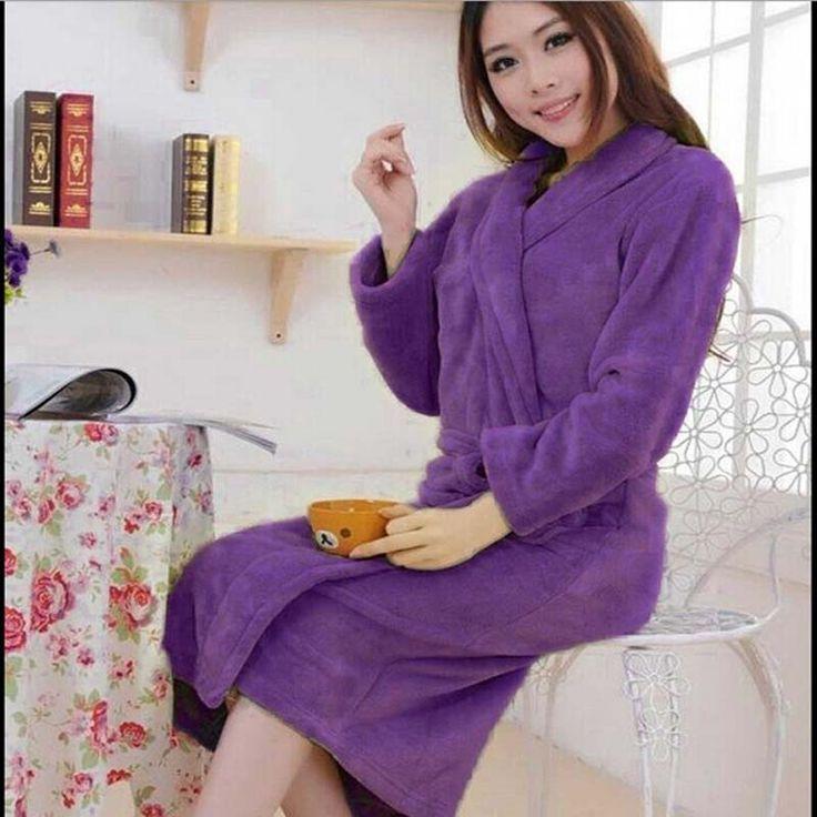 High quality Robes Autumn -winter flannel robes lovers sleepwear fashion warm bathrobe bathrobes coral fleece robe H0799