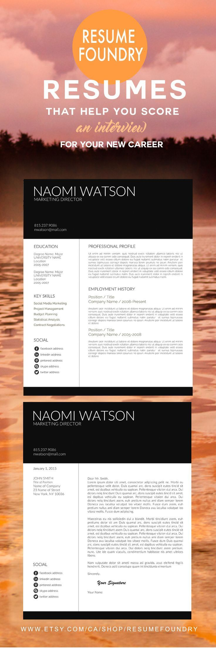 Best Professional Cv Template Images On   Resume
