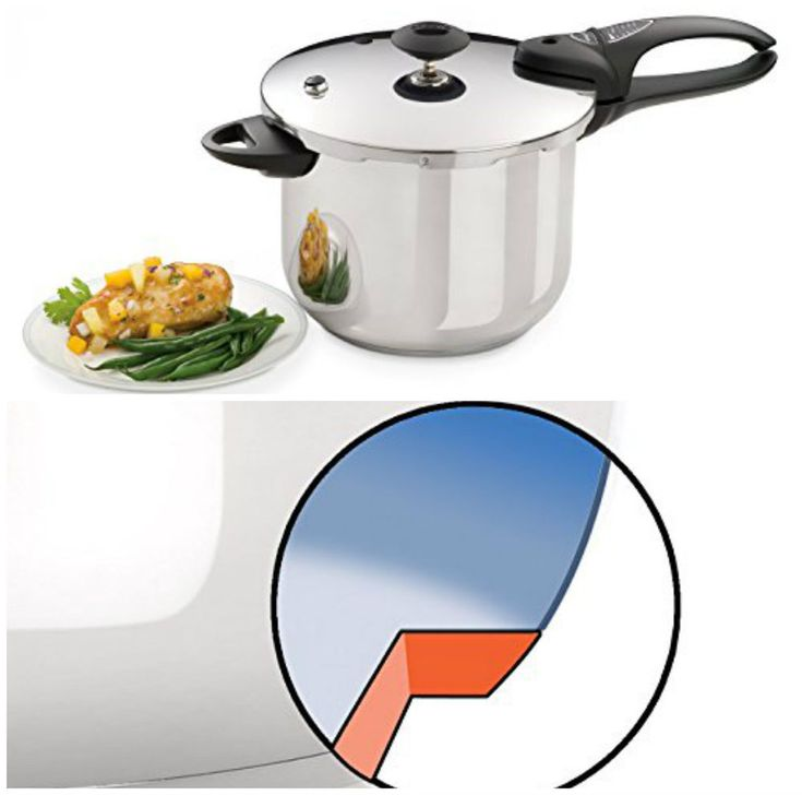 Stainless Steel Pressure Cooker 6Qt Stovetop Cookware Induction Cover Lock Delux #NewPressureCookers