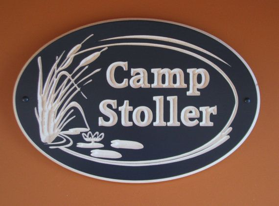 Custom Carved Wood Oval Cottage/Camp Sign by RCOriginalsGallery