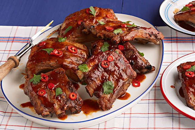 Try our Thai-BBQ Slow-Cooker Ribs and serve with dinner. These smoky and spicy ribs pair great with hot rice and chargrilled vegetables!