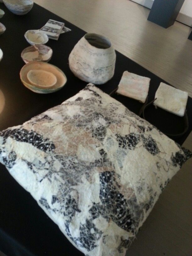 Scatter cushion created from recycled fabrics by Christa Badenhorst-Smeul