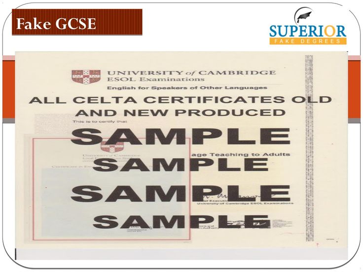 Looking for high quality fake gcse certificates? Superior Fake Degrees is the best place to get fake gcse certificates and many other legal documents like passports, death certificate and many more. Vist at