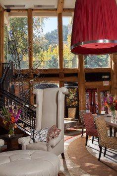 luxury ski lodge